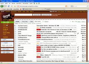 Google Mail con Temas